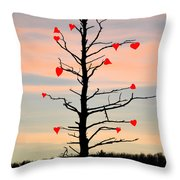 The Fall Of Love Throw Pillow