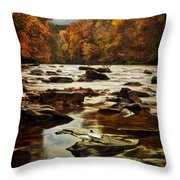 The Fall On The River Avon  Throw Pillow