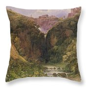 The Falls Of Tivoli Throw Pillow