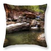The Falls Virgin River Throw Pillow