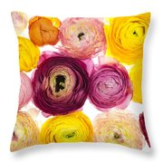 The Family Rununculus Throw Pillow
