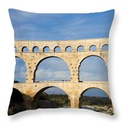 The Famous Pont Du Gare In France Throw Pillow