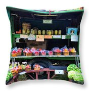 The Farmers Market Throw Pillow