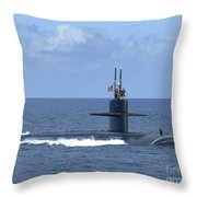 The Fast Attack Submarine Uss Salt Lake Throw Pillow