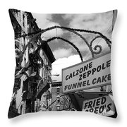 The Feast In Black And White Throw Pillow