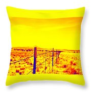 The Fence Line Throw Pillow
