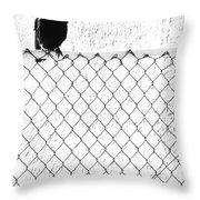 The Fence That Follows Throw Pillow