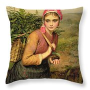 The Fern Gatherer Throw Pillow