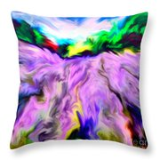 The Field Of Lavender Throw Pillow