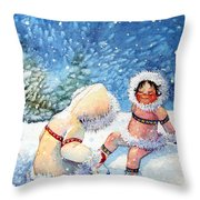 The Figure Skater 1 Throw Pillow