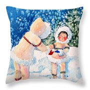 The Figure Skater 2 Throw Pillow