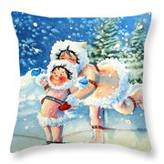 The Figure Skater 4 Throw Pillow