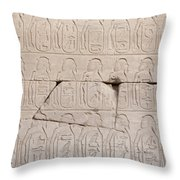 The Figures Of Prisoners On A Temple Throw Pillow
