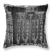 The Final Score- N C A A  Basketball Throw Pillow