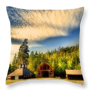 The Fintry Barns Throw Pillow