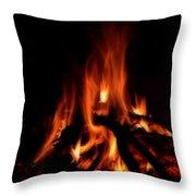 The Fire Throw Pillow