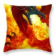 The Fire Dragon Throw Pillow