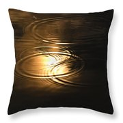 The First Drops Of Rain Throw Pillow