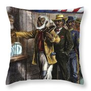 The First Vote, 1867 Throw Pillow