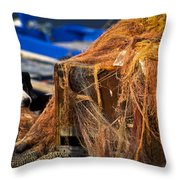 The Fisherman's Dog Throw Pillow