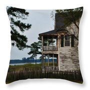 The Fishermans House Throw Pillow