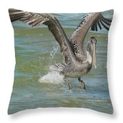 The Fishing Is Good Throw Pillow