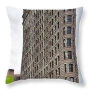 The Flat Iron Building Throw Pillow