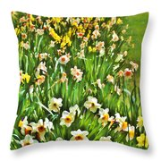 The Flower Bed Throw Pillow