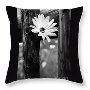 The Flower Bw Throw Pillow
