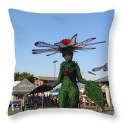 The Flower Fairies Are Here Throw Pillow