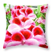 The Flower Tower Throw Pillow