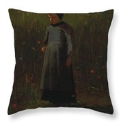 The Flowers Of The Field Throw Pillow