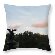 The Flying Angel Throw Pillow