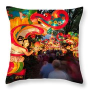 The Flying Apsaras Throw Pillow