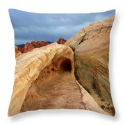 The Folded Landscape Throw Pillow