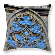 The Folly Of Windows In Prague Throw Pillow by Christine Till