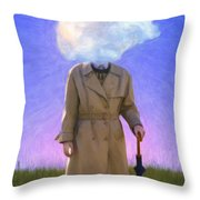 The Fool On The Hill Throw Pillow