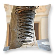 The Foot Of Choo Choo Justice Throw Pillow