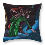 The Forest Lord Prevents A Rash Act Throw Pillow by Al Goldfarb