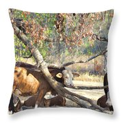 The Fork In The Tree Throw Pillow