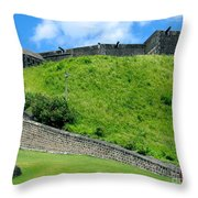 The Fortress At St. Kitts Throw Pillow