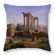 The Forum Rome  Throw Pillow