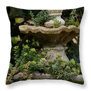 The Fountain Painterly Throw Pillow by Ernie Echols