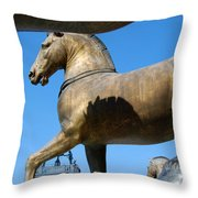 The Four Horses Of St Mark's  Throw Pillow
