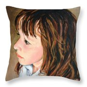 The French Girl Throw Pillow