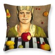 The Fruit Collector 2 Throw Pillow
