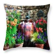 The Garden Cistern Throw Pillow