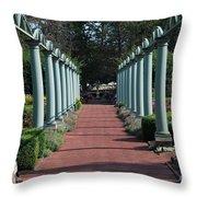 The Garden Walk Throw Pillow
