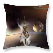 The Genie's Voice Throw Pillow