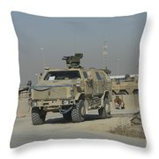 The German Army Atf Dingo With A Turret Throw Pillow